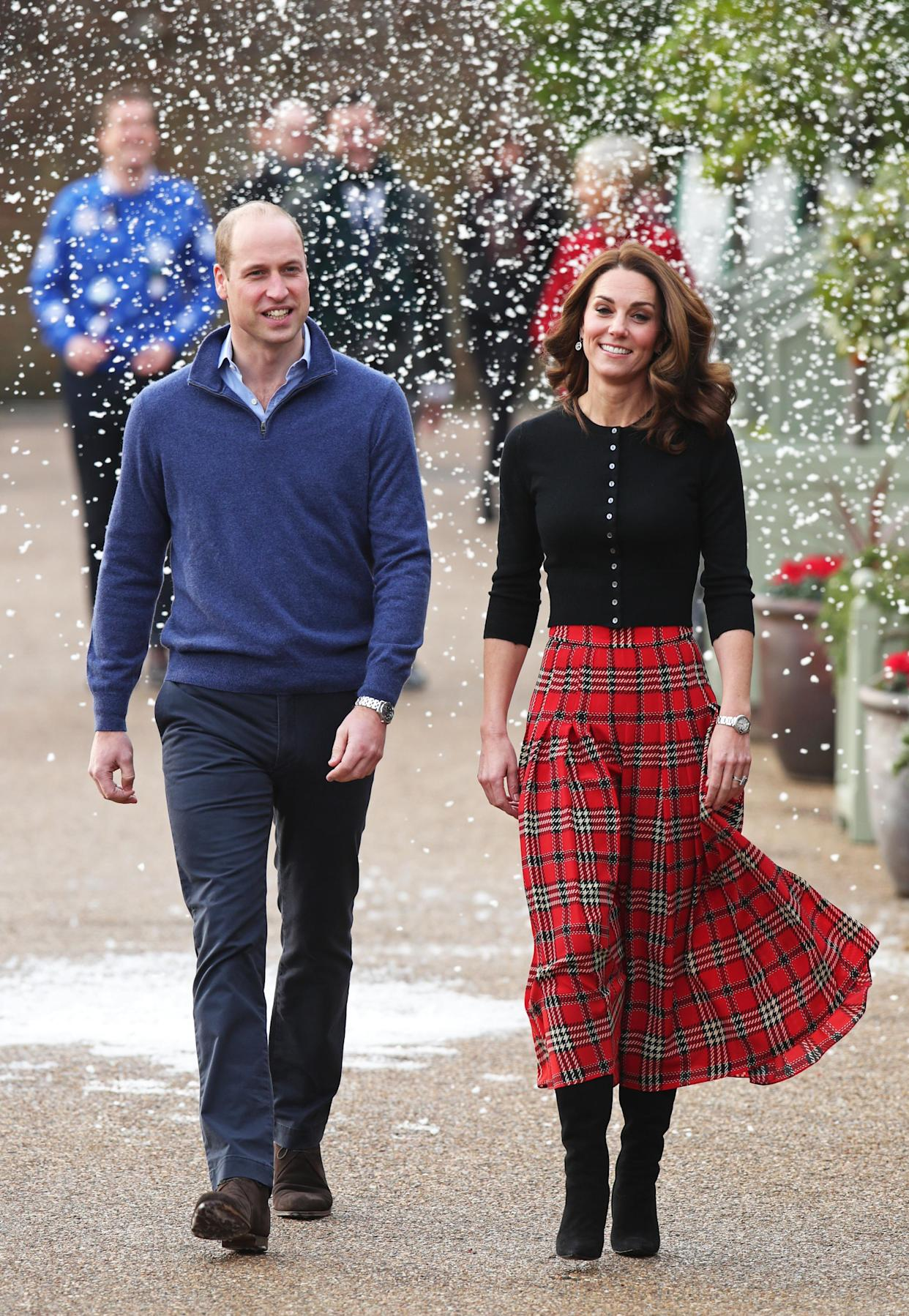 The Cambridges hosted a Christmas party for RAF families