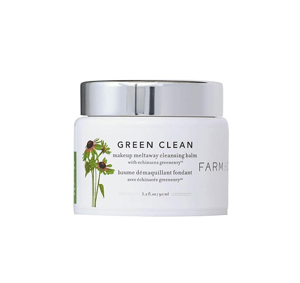 """<p>The combo of sunflower and ginger root oils in this balm-to-oil formula work to cleanse skin from dirt, oil, and pollution buildup, while papaya extract gently sloughs off dead skin cells. Together, they make one rock <em>solid</em> cleanser. (See what we did there?)</p> <p><strong>$34</strong> (<a href=""""https://shop-links.co/1704104376307577446"""" rel=""""nofollow noopener"""" target=""""_blank"""" data-ylk=""""slk:Shop Now"""" class=""""link rapid-noclick-resp"""">Shop Now</a>)</p>"""