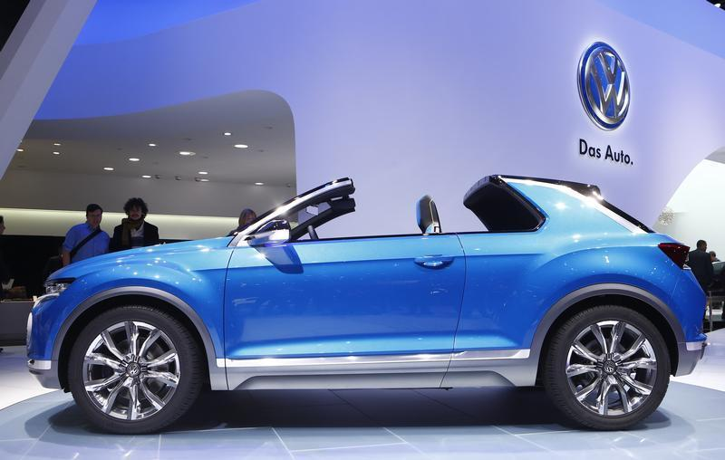 Volkswagen T-ROC concept car is pictured during the media day ahead of the 84th Geneva Motor Show at the Palexpo Arena in Geneva
