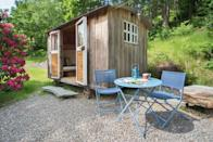 """<p>For something cute and quirky, look no further than this Airbnb in Lake District beauty spot Borrowdale, three miles south of the market town of Keswick. The cosy shepherd's hut for two is nestled at the foot of the fells with wonderful valley and woodland views. It's a snug space for sleeping, with shower and toilet facilities metres away in a barn. There's also an on-site wood-fired hot tub that you can hire for the day. </p><p><strong>Sleeps: </strong>2</p><p><strong>Price per night: </strong>£89</p><p><a class=""""link rapid-noclick-resp"""" href=""""https://airbnb.pvxt.net/WDO2QA"""" rel=""""nofollow noopener"""" target=""""_blank"""" data-ylk=""""slk:SEE INSIDE"""">SEE INSIDE</a></p>"""