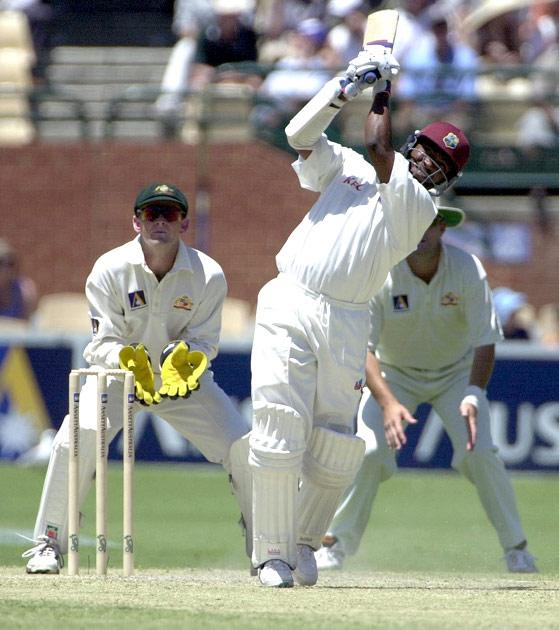 16 Dec 2000:  Brian Lara of West Indies in action during his innings of 182 against Australia during  the second  days play of the Third Test match at the Adelaide Oval in Adelaide, Australia.x Digital Image Mandatory Credit: Tony Lewis/ALLSPORT