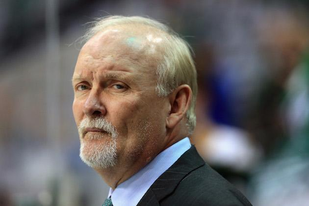 DALLAS, TX – APRIL 29: Lindy Ruff of the Dallas Stars looks on during pregame warm up before the Stars take on the St. Louis Blues in Game One of the Western Conference Second Round during the 2016 NHL Stanley Cup Playoffs at American Airlines Center on April 29, 2016 in Dallas, Texas. (Photo by Tom Pennington/Getty Images)