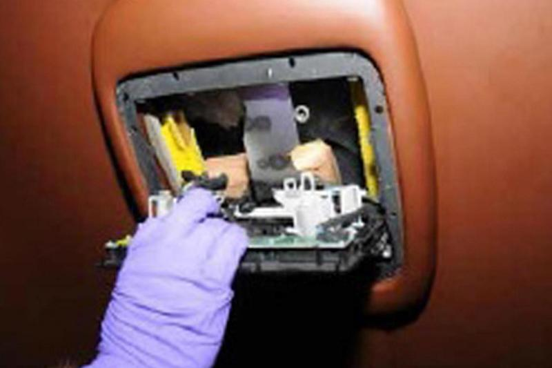 The interior compartment of the Bentley used to smuggle drugs (PA)
