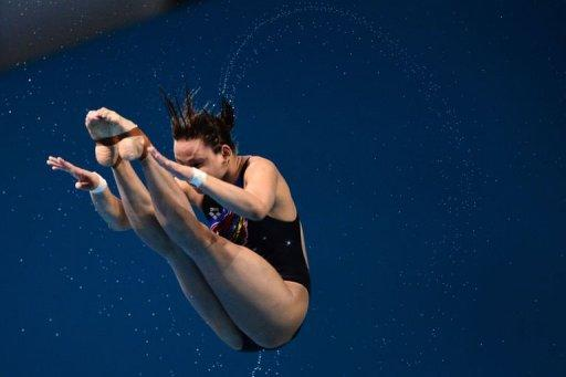 Malaysia's Pamg Pandelela Rinong competes in the women's 10m platform final during the diving event at the London 2012 Olympic Games