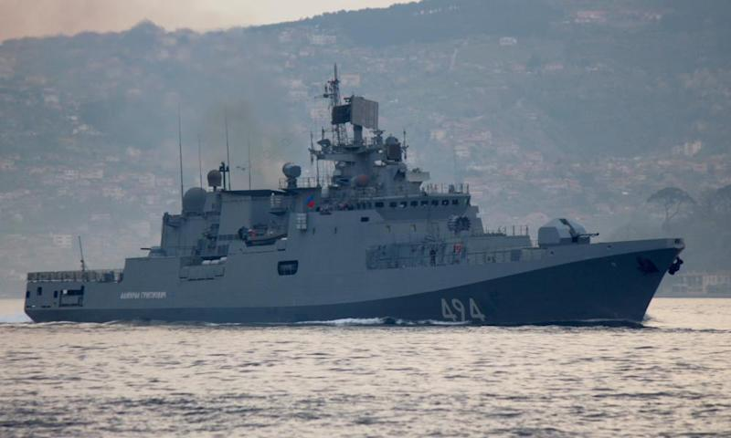 Russian navy frigate Admiral Grigorovich carries Kalibr cruise missiles.