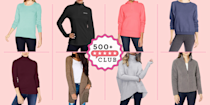 """<p><em><a href=""""https://www.goodhousekeeping.com/best-amazon-finds/"""" rel=""""nofollow noopener"""" target=""""_blank"""" data-ylk=""""slk:The 500+ Club"""" class=""""link rapid-noclick-resp"""">The 500+ Club </a>helps take the guesswork out of shopping on Amazon. The product experts at Good Housekeeping have vetted the below products to ensure they're worth your money. Each one boasts at least 500 reviews and a minimum 4-star rating from real, verified reviewers, so you can trust that you're purchasing products that actually work, according to users and experts.</em></p><hr><p>Fall will be here before you know it, which means it's time to take your <a href=""""https://www.goodhousekeeping.com/beauty/fashion/g28209987/cute-fall-sweaters/"""" rel=""""nofollow noopener"""" target=""""_blank"""" data-ylk=""""slk:favorite sweaters"""" class=""""link rapid-noclick-resp"""">favorite sweaters</a> out of storage. And let's face it, once the cool weather hits, there's no such thing as too many sweaters. Not only are they insanely comfortable, but they can also be dressed up or down to your liking. If you want to add some new sweaters to your growing rotation, you're in luck. We're sharing nine of Amazon's most popular sweaters. From crewnecks to fuzzy zips, and everything in between, you're just a few clicks away from upgrading your autumn wardrobe. </p>"""