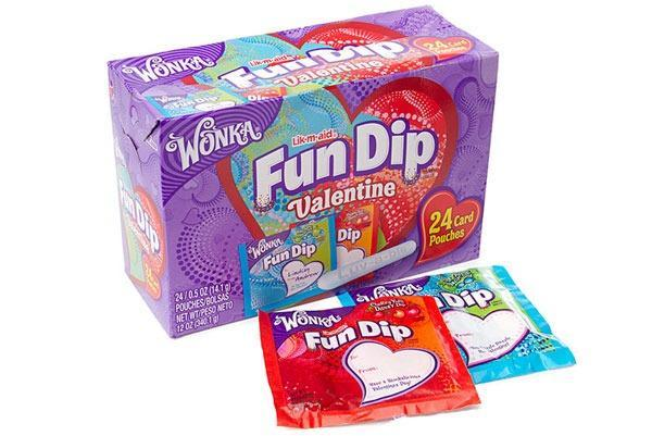 Valentines Candy Ranked Wonka Fun Dip Valentine Card and Candy Kit
