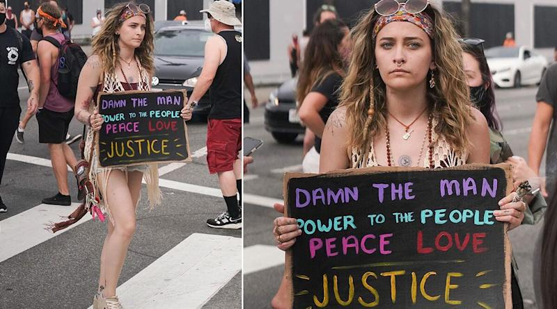 #BlackLivesMatter Protest: Paris Jackson Joins Protesters in Los Angeles in the Wake of George Floyd's Death