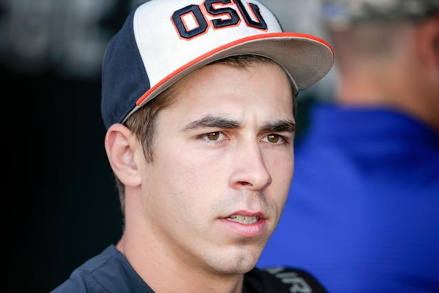 Former Oregon State pitcher Luke Heimlich might be blocked from pitching for Mexican League team. (AP)