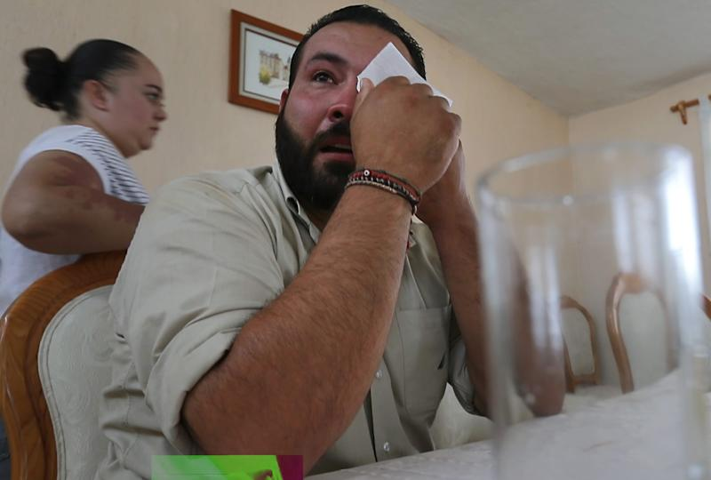 Alfredo Gutiérrez tears up when talking about his younger brother, Ricardo, on his family's farm in Polotitlán, Mexico. The brother moved to Wisconsin after his artisan cheese plant failed.