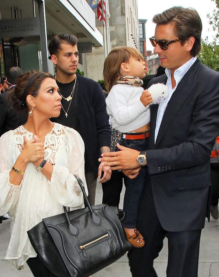 "Kourtney Kardashian will be ""raising two kids alone,"" reveals <em>Life & Style,</em> because she's tired of Scott Disick's ""bad behavior,"" such as ""clubbing until 7 a.m... and leaving her to fend for herself."" For more about why Kardashian now ""hates"" Disick, thinks he's a ""bad influence on the kids,"" and would prefer to be a ""single mom,"" go to <a target=""_blank"" href=""http://www.gossipcop.com/kourtney-kardashian-dumps-scott-disick-split-breakup-single-mom-raising-kids-alone/"">Gossip Cop</a>."