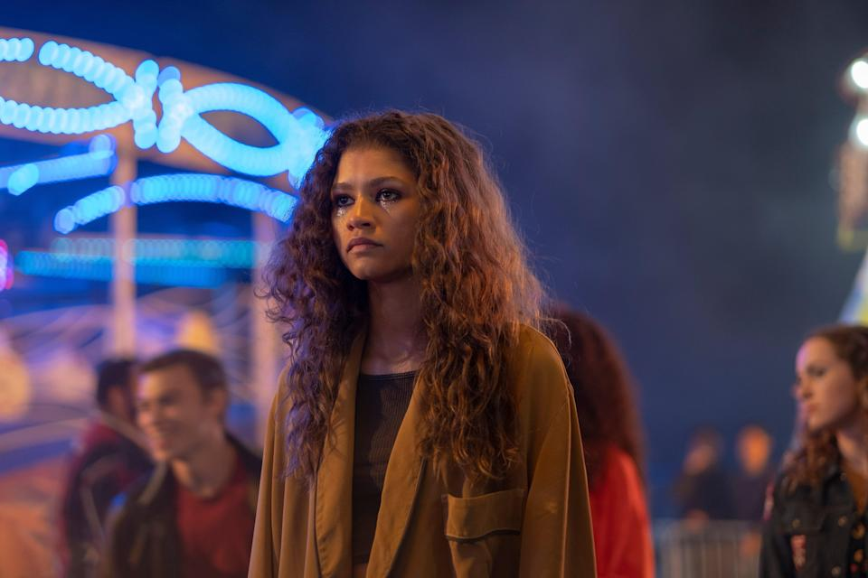 Zendaya as Rue in series one of 'Euphoria'Sky
