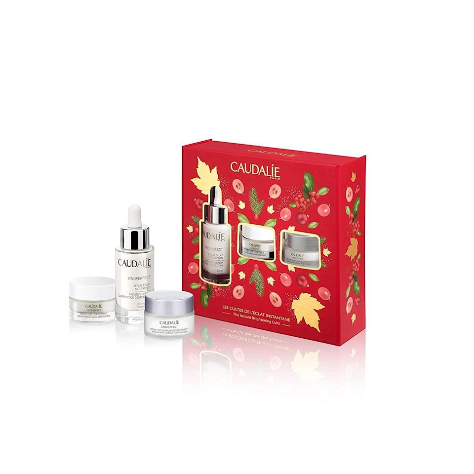 <p>The <span>Caudalie Vinoperfect Instant Brightening Set</span> ($79) is a must-have for skin care enthusiats.</p>