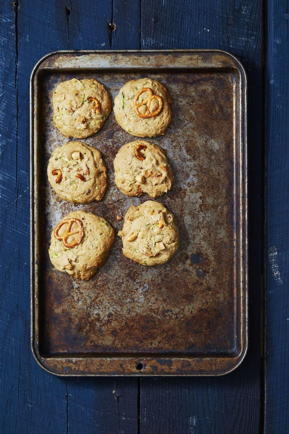"""<p>These easy cookies contain a full cup of grated zucchini. This totally counts as a serving of vegetables, IMHO.</p><p><em><a href=""""https://www.goodhousekeeping.com/food-recipes/dessert/a40394/sweet-salty-zucchini-bread-cookies-recipe/"""" rel=""""nofollow noopener"""" target=""""_blank"""" data-ylk=""""slk:Get the recipe for Sweet & Salty Zucchini Bread Cookies »"""" class=""""link rapid-noclick-resp"""">Get the recipe for Sweet & Salty Zucchini Bread Cookies »</a></em></p>"""