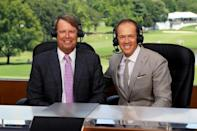 "Player turned TV pundit Paul Azinger (left) had his comments about Tommy Fleetwood choking labelled ""embarrassing"" by Ian Poulter"