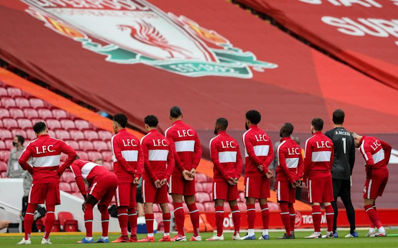 The Liverpool players line up - GETTY IMAGES