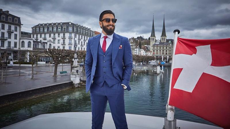 Ranveer Recreates the 'Lagaan' Moment in Ice-Cold Switzerland