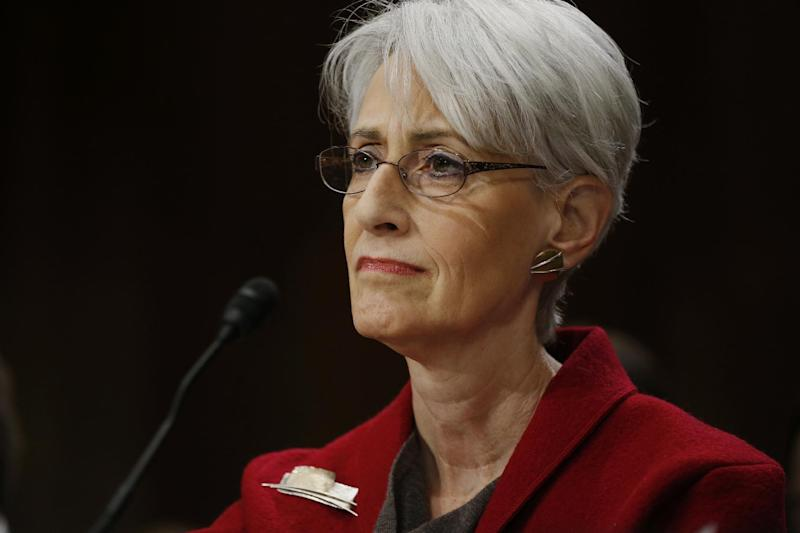 Undersecretary of State for Political Affairs Wendy Sherman testifies on Capitol Hill in Washington, Tuesday, Feb. 4, 2014, before the Senate Foreign Relations Committee hearing examining negotiations on Iran's nuclear program. (AP Photo/Charles Dharapak)