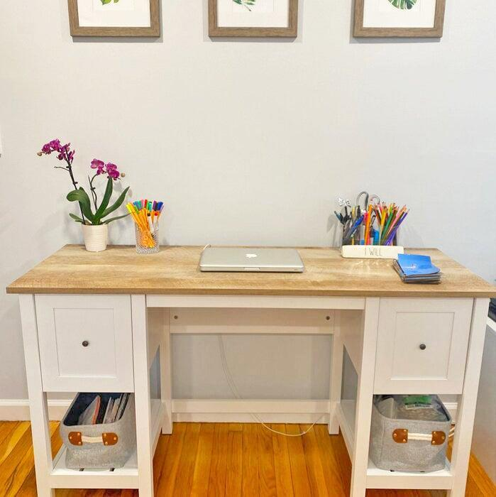 """<h2>Highland Dunes Myrasol Desk</h2><br>Although this bright-white desk does take some time to put together, reviewers say the effort is well worth it. The finished product is sturdy, expensive-looking, storage-friendly, and boasts an ample worktop surface that can support multiple monitors along with other WFH odds and ends.<br><br><strong>4.6 out of 5 stars and 4,235 reviews</strong><br>""""This is a great desk! It took us about 2-3 hours to assemble with no problems. It's sturdy. It has large drawers--one has accessories for filing (my favorite part). There is plenty of room on top to put a laptop and an extra monitor. The back is finished, so if you want to put it in the middle of the room it will look good from any angle or side. I've been looking for a desk for a long time, and I am extremely happy with my final decision!!"""" <em>– Wayfair Reviewer</em><br><br><em>Shop <strong><a href=""""https://www.wayfair.com/furniture/pdp/highland-dunes-myrasol-desk-hlds6222.html"""" rel=""""nofollow noopener"""" target=""""_blank"""" data-ylk=""""slk:Wayfair"""" class=""""link rapid-noclick-resp"""">Wayfair</a></strong></em><br><br><br><strong>Highland Dunes</strong> Myrasol Desk, $, available at <a href=""""https://go.skimresources.com/?id=30283X879131&url=https%3A%2F%2Fwww.wayfair.com%2Ffurniture%2Fpdp%2Fhighland-dunes-myrasol-desk-hlds6222.html"""" rel=""""nofollow noopener"""" target=""""_blank"""" data-ylk=""""slk:Wayfair"""" class=""""link rapid-noclick-resp"""">Wayfair</a>"""