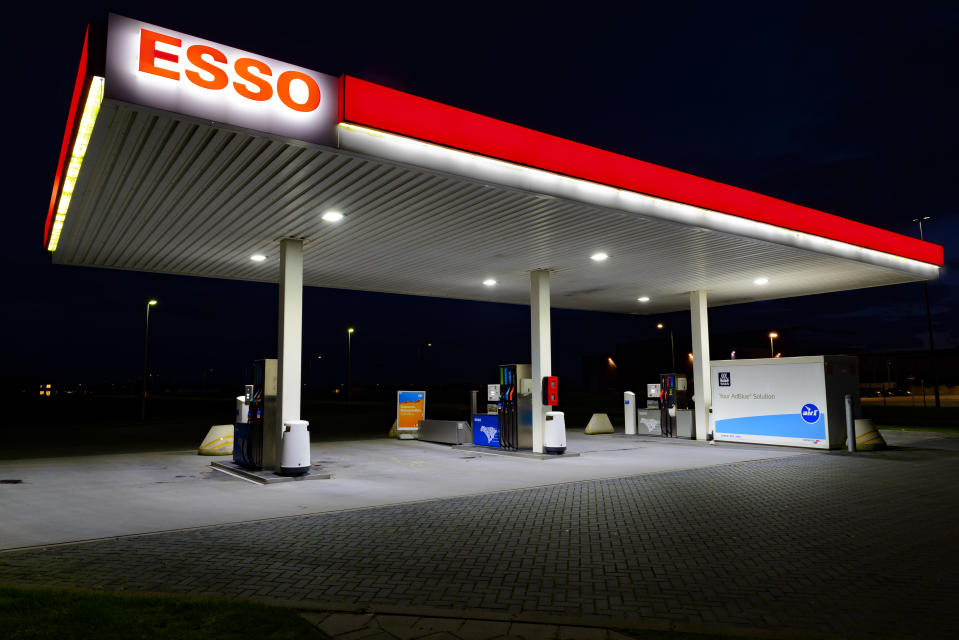 An Esso gas station