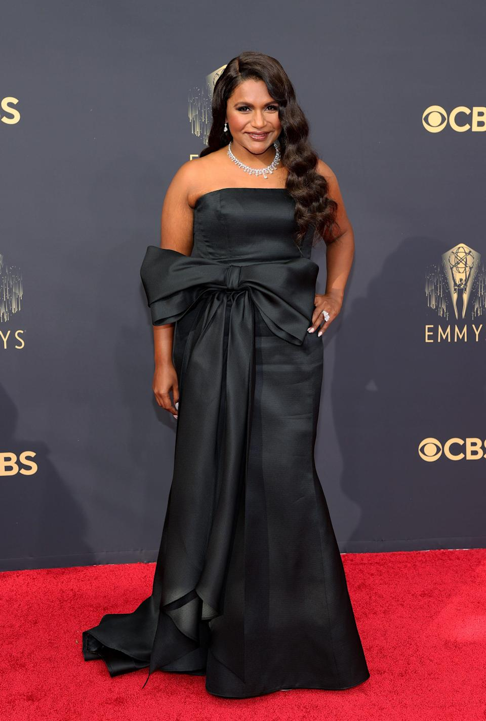 Mindy Kaling attends the 2021 Emmys.