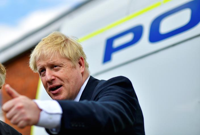 Boris Johnson promised to increase police numbers during his leadership campaign (Picture: PA)