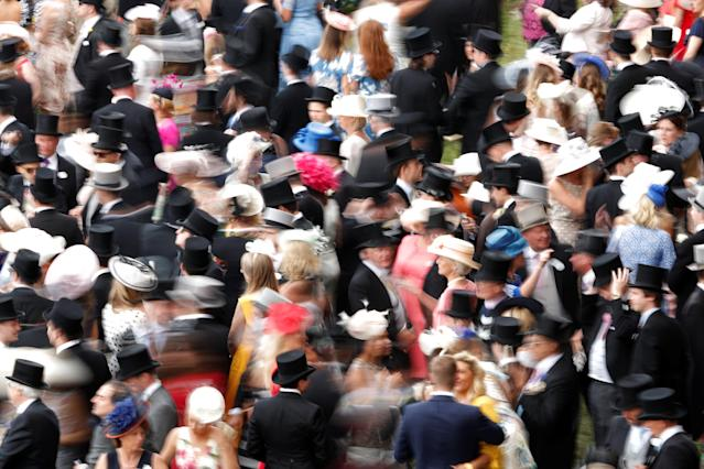 Horse Racing - Royal Ascot - Ascot Racecourse, Ascot, Britain - June 23, 2018 General view of racegoers before the start of the racing Action Images via Reuters/Andrew Boyers