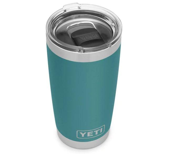 "This tumbler is stainless steel, fully insulated, and won't make his coffee taste like metal. Get it <a href=""https://www.yeti.com/en_CA/drinkware/rambler-591-ml-tumbler/YRAM20.html"" target=""_blank"" rel=""noopener noreferrer"">at Yeti</a> for $39.99."