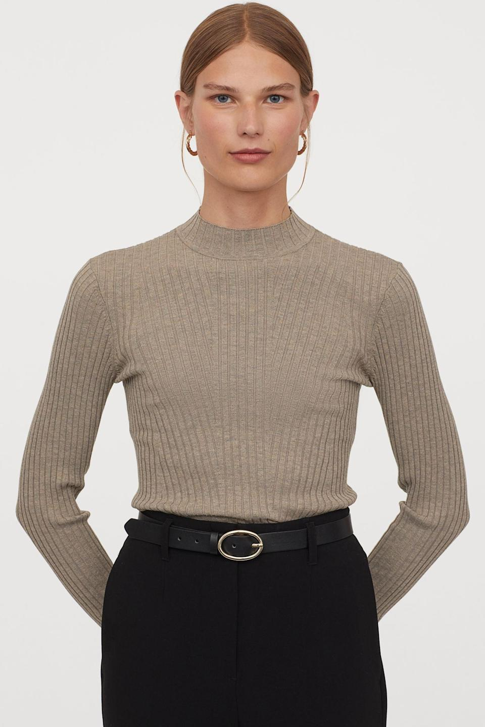 <p>This <span>Ribbed Sweater</span> ($25) will quickly become your favorite go-to layer.</p>