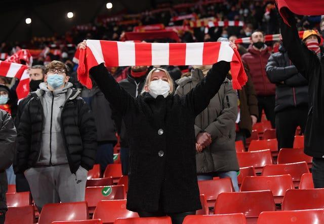 Liverpool fans attended the match against West Brom before the city was moved out of tier two