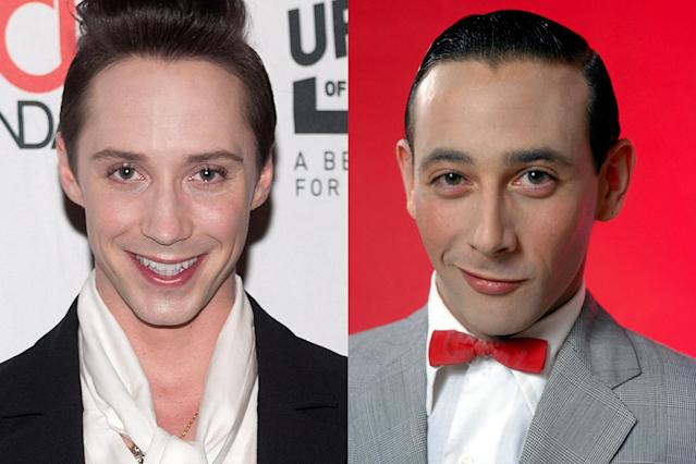 <p>NBC figure skating analyst and two-time Olympian Johhny Weir is a fashion presence at the 2018 Winter Olympics, but in the past has been confused for Pee-wee Herman. </p>