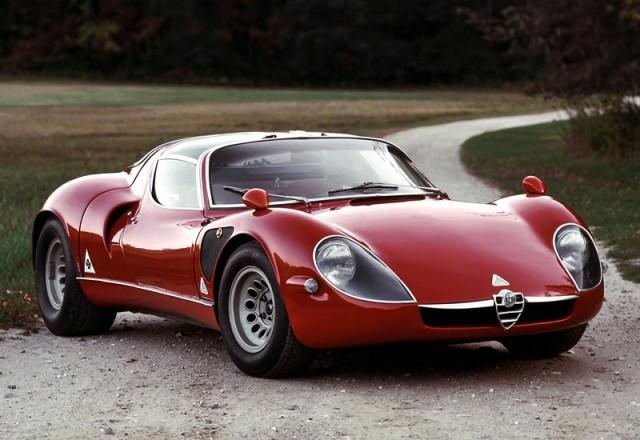 Red alpha romeo stradale