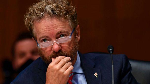 PHOTO: Sen. Rand Paul listens to testimony during the Senate Committee for Health, Education, Labor, and Pensions hearing to examine COVID-19 and Safely Getting Back to Work and Back to School, May 12, 2020 in Washington. (Toni L. Sandys/POOL/AFP via Getty Images)