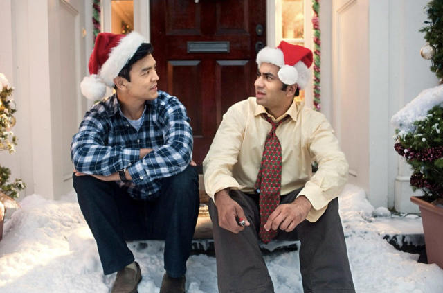 <p>Released in glorious 3D in theaters, the third — and sadly final … for now — <em>Harold & Kumar </em>is just as funny in good old-fashioned 2D. In desperate need of a Christmastime miracle, the estranged pals (John Cho and Kal Penn) put their squabbling on hold to find a replacement for the valuable tree that Kumar burned down with a stray reefer. As always with the <em>H&K </em>franchise, the movie's comic high point is Neil Patrick Harris's self-aware cameo as the alpha male version of himself, this time leading a Christmas stage spectacular that's trippier than anything playing at Radio City Music Hall. —<em>E.A.</em> (Available on Amazon, Google Play, iTunes, Vudu, YouTube)<br><em>(Photo: Darren Michaels/Warner Brothers Pictures)</em> </p>