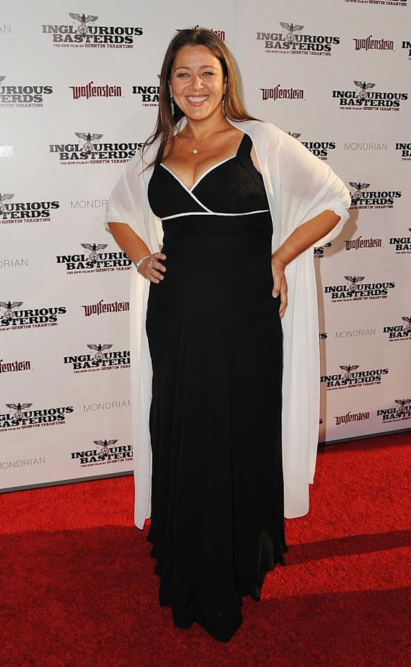 "<a href=""http://movies.yahoo.com/movie/contributor/1800019349"">Camryn Manheim</a> at the Los Angeles premiere of <a href=""http://movies.yahoo.com/movie/1808404206/info"">Inglourious Basterds</a> - 08/10/2009"