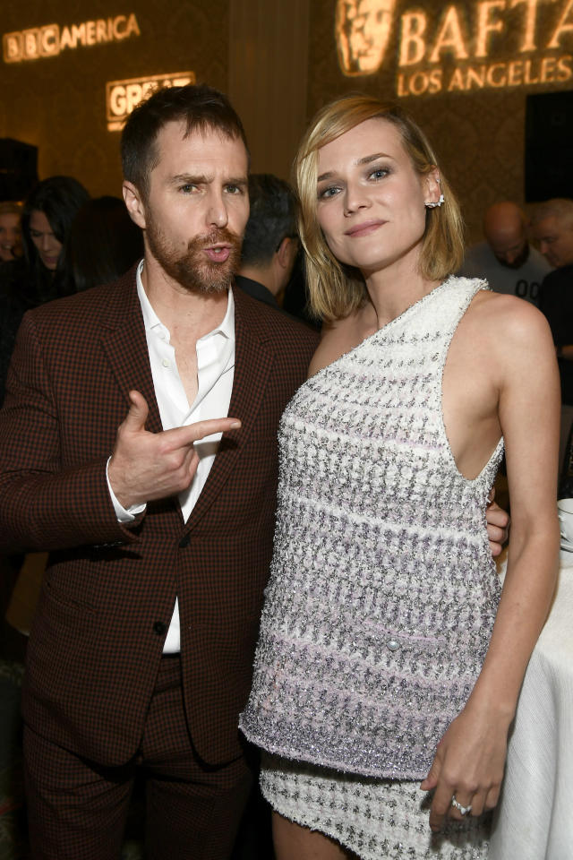 Sam Rockwell and Diane Kruger at the BAFTA Los Angeles Tea Party. (Photo: Getty Images)