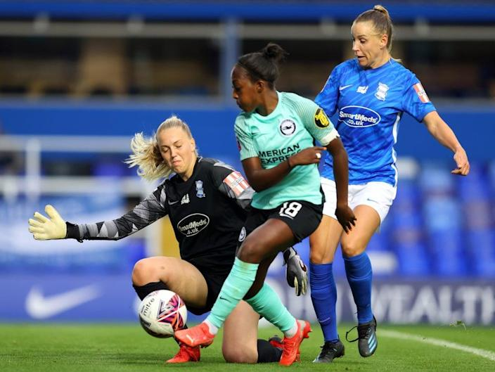Danielle Carter sustained the injuries at Arsenal, though she now plays for Brighton (Getty Images)