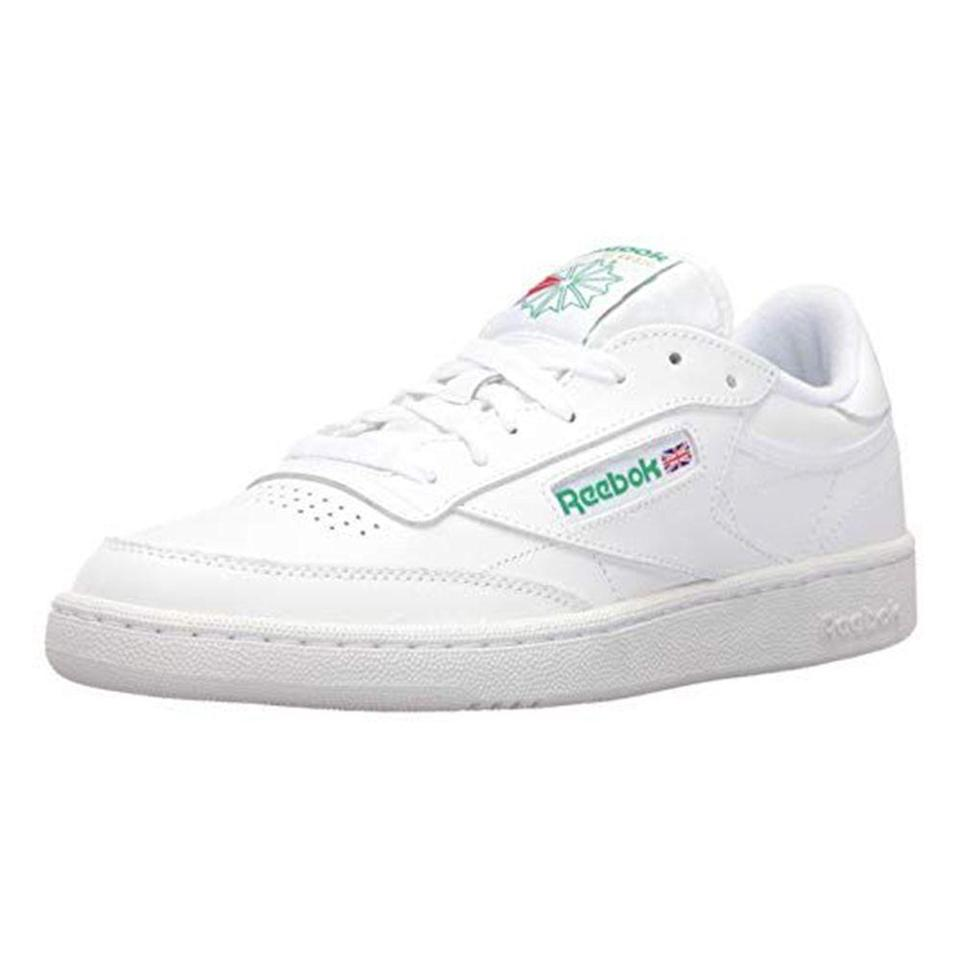 """<p><strong>Reebok</strong></p><p>amazon.com</p><p><a href=""""https://www.amazon.com/dp/B01FUR8E3W?tag=syn-yahoo-20&ascsubtag=%5Bartid%7C2139.g.33501651%5Bsrc%7Cyahoo-us"""" rel=""""nofollow noopener"""" target=""""_blank"""" data-ylk=""""slk:BUY IT HERE"""" class=""""link rapid-noclick-resp"""">BUY IT HERE</a></p><p><del>$70</del><strong><br>$62.78 (10% OFF)</strong></p><p>A pair of sleek white leather sneakers is a must. If a pair is missing from your closet, Reebok's Club 85 shoes are a timeless choice. (Finding these on sale steeper than this price is unfortunately rare, by the way.) </p>"""