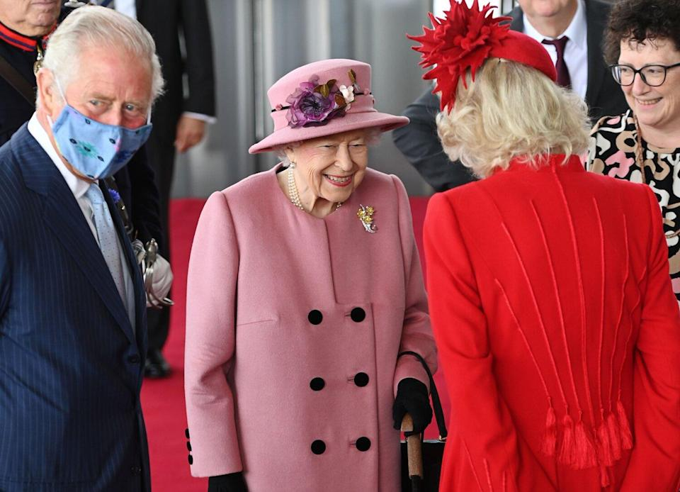 Prince Charles, Queen Elizabeth II and Camilla Duchess of Cornwall
