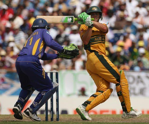 Adam Gilchrist won the World Cup 2007 for Australia off his own blazing willow.
