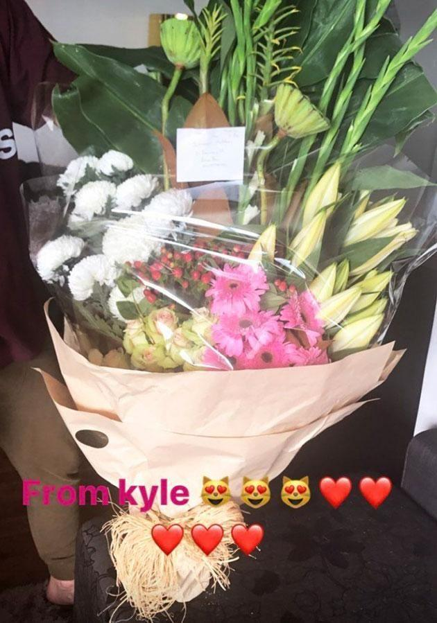 The lucky lady received the biggest bouquet of flowers! Photo: Instagram