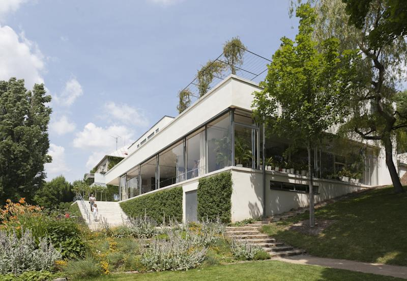Exterior view of the famed Tugendhat House, designed by Lilly Reich in collaboration with Ludwig Mies van der Rohe