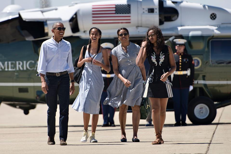 Former president Barack Obama doesn't think his daughters will take on the Oval Office in the future.