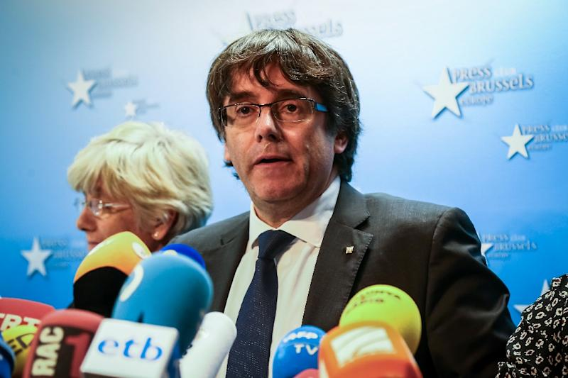 Addressing reporters in Brussels, Catalonia's dismissed leader Carles Puigdemont called on Spain's central government to respect the result if separatists win snap elections Madrid has called for the region in December