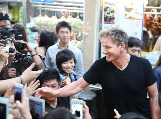 Celebrity chef Gordon Ramsay says he is looking to open one of his world-famous restaurants in Singapore. (Yahoo! photo/Shirly Hamra)