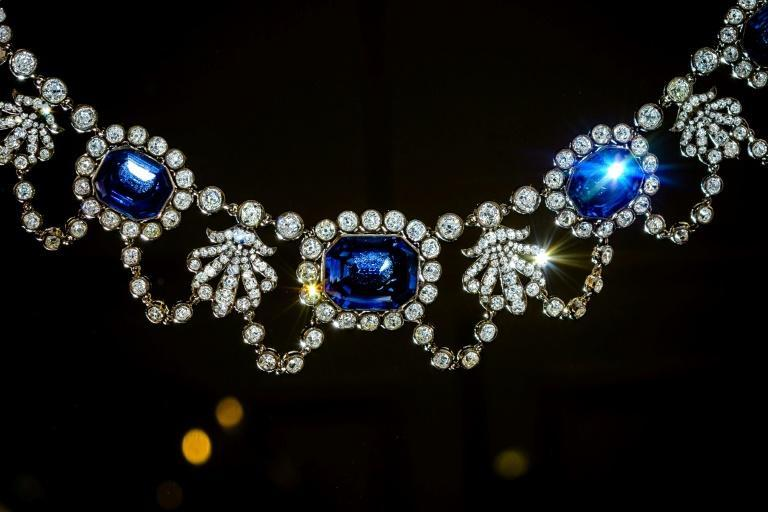 An early 19th-century sapphire and diamond necklace, once owned by Napoleon's adopted daughter, Stephanie de Beauharnais, is among the pieces to be auctioned