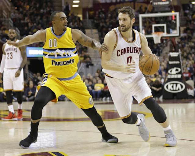 """<a class=""""link rapid-noclick-resp"""" href=""""/nba/players/4391/"""" data-ylk=""""slk:Kevin Love"""">Kevin Love</a>'s first All-Star season in Cleveland just hit a major speed bump. (AP)"""