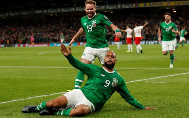 David McGoldrick salvaged a point against Switzerland in Dublin - Action Images via Reuters