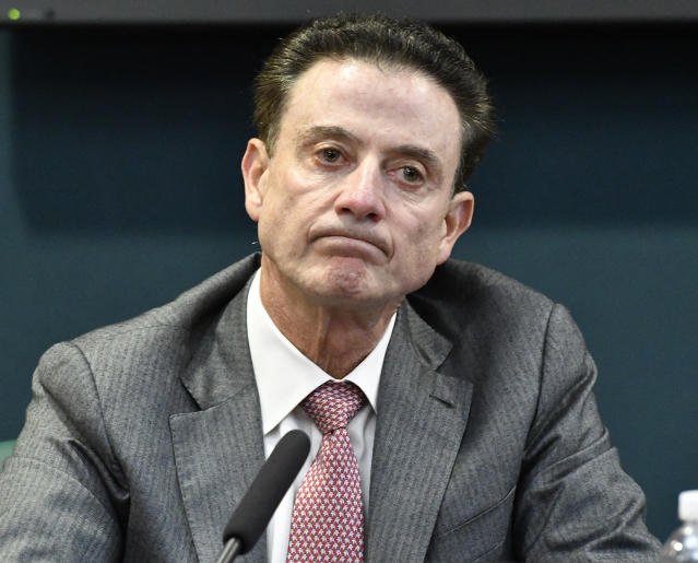 The University of Louisville Athletic Association terminated Rick Pitino's contract on Oct. 16, 2017. (Getty)