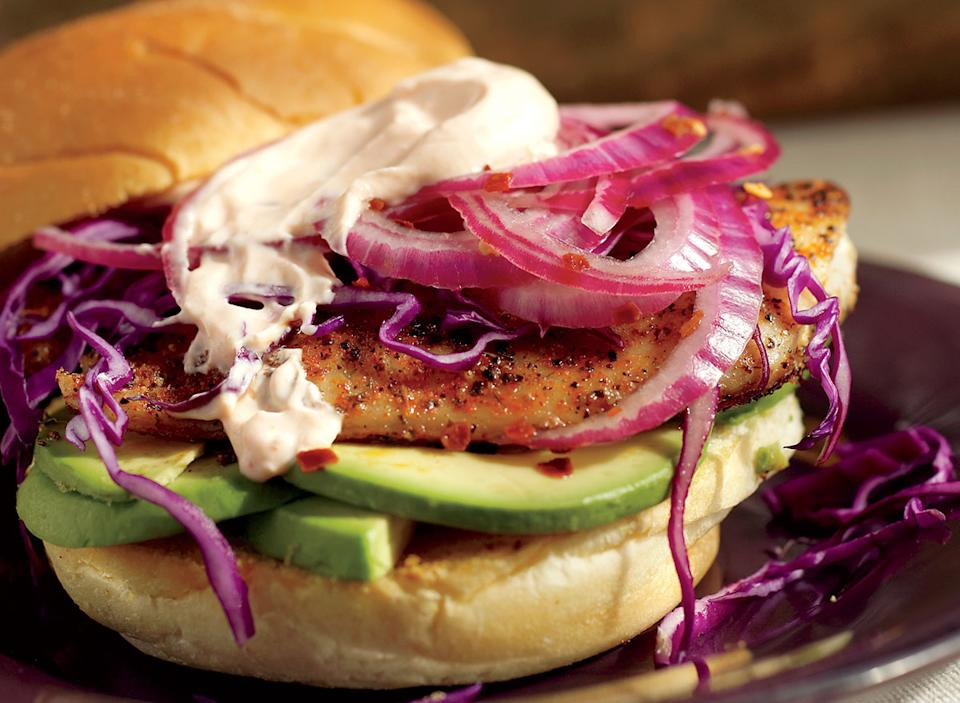Paleo blackened fish sandwich